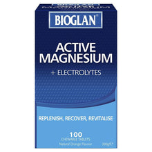 Load image into Gallery viewer, Bioglan Magnesium + Electrolyte 100 Chewable Tablets