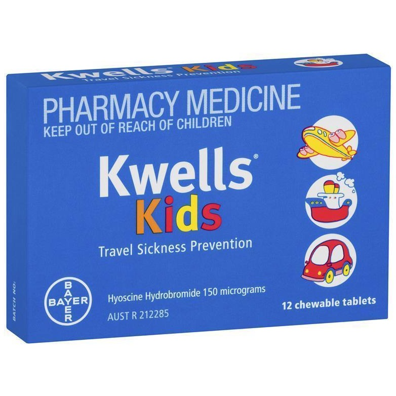 Kwells Kids Travel Sickness 12 Chewable Tablets (Limit of ONE per Order)