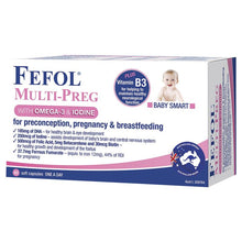 Load image into Gallery viewer, Fefol Multi Preg Liquid 60 Capsules