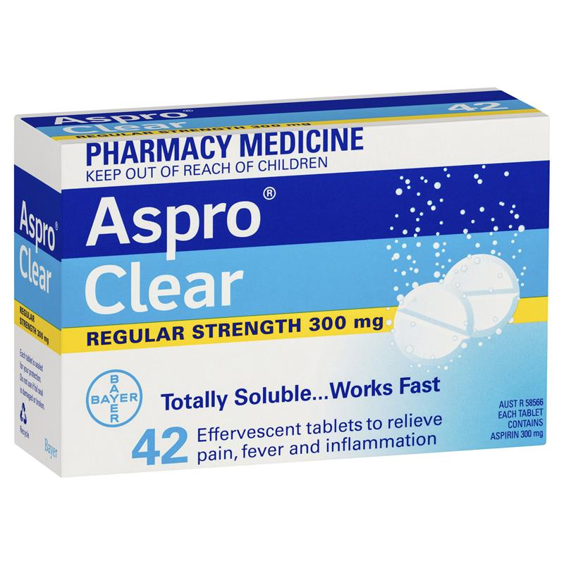 Aspro Clear Pain Relief 42 Soluble Tablets (Limit of ONE per Order)