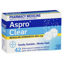 Load image into Gallery viewer, Aspro Clear Pain Relief 42 Soluble Tablets (Limit of ONE per Order)