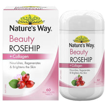 Load image into Gallery viewer, Nature's Way Beauty Rosehip + Collagen 60 Tablets