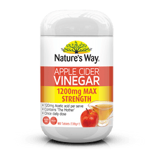 Load image into Gallery viewer, Nature's Way SUPERFOODS APPLE CIDER VINEGAR MAX 1200MG 90S