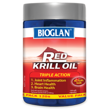 Load image into Gallery viewer, Bioglan Red Krill Oil Triple Action 500mg 120 Soft Capsules