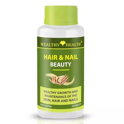 Wealthy Health Hair & Nail Beauty 60 Tablets