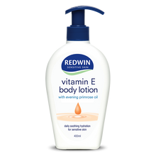 Load image into Gallery viewer, Redwin Body Lotion with Vitamin E and Evening Primrose Oil 400ml Pump