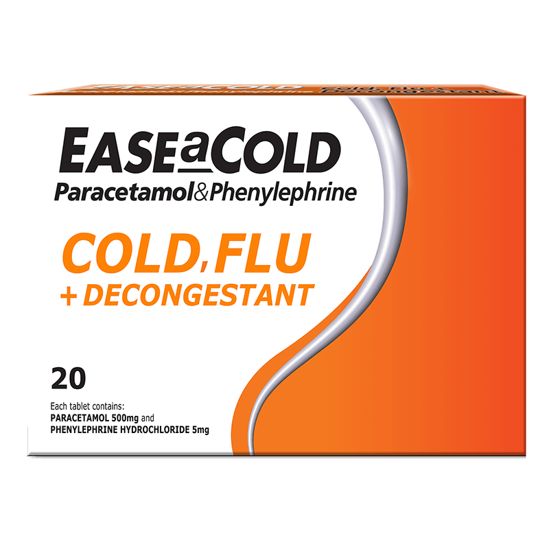 Ease a Cold Cold, Flu + Decongestant 20 Tablets