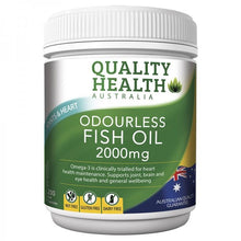 Load image into Gallery viewer, Quality Health Odourless Fish Oil 2000mg 200 Capsules
