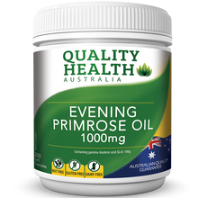 Load image into Gallery viewer, Quality Health Evening Primrose oil 200 Soft Capsules