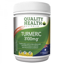 Load image into Gallery viewer, Quality Health Turmeric 3100mg 100 Tablets
