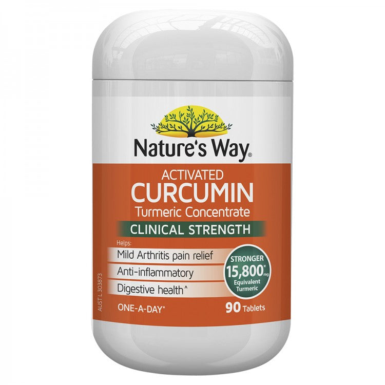 Nature's Way Activated Curcumin 90 Tablets