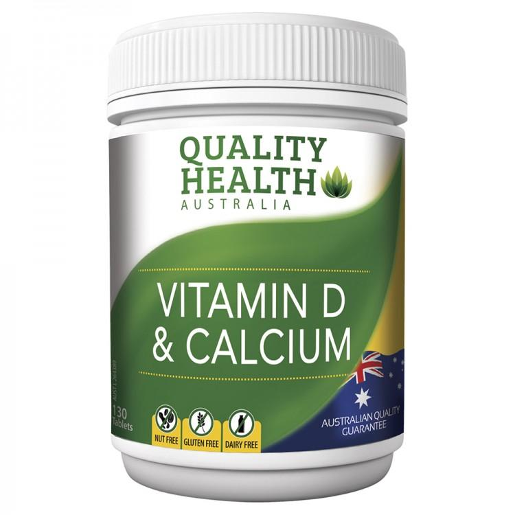 Quality Health Vitamin D & Calcium 130 Tablets
