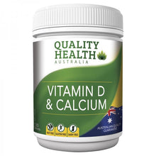 Load image into Gallery viewer, Quality Health Vitamin D & Calcium 130 Tablets