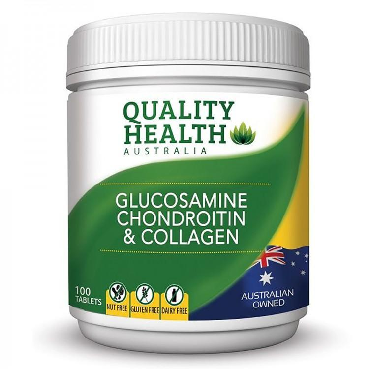 Quality Health Glucosamine Chondroitin & Collagen 100 Tablets