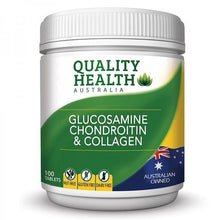 Load image into Gallery viewer, Quality Health Glucosamine Chondroitin & Collagen 100 Tablets