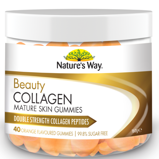 Nature's Way Beauty Collagen Mature Skin Orange Flavoured 40 Gummies