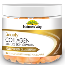 Load image into Gallery viewer, Nature's Way Beauty Collagen Mature Skin Orange Flavoured 40 Gummies
