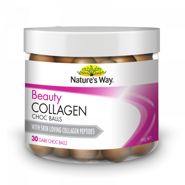 Nature's Way Beauty Collagen Dark Choc Balls 30 Pack