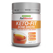 Load image into Gallery viewer, Naturopathica FatBlaster Keto Fit Bone Broth 100g