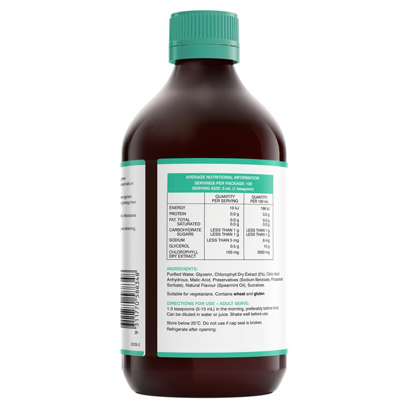 Swisse Chlorophyll Spearmint 500ml