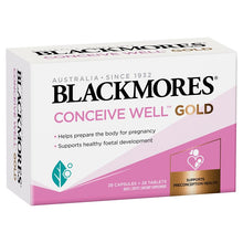 Load image into Gallery viewer, Blackmores Conceive Well Gold 28 Tablets + 28 Capsules