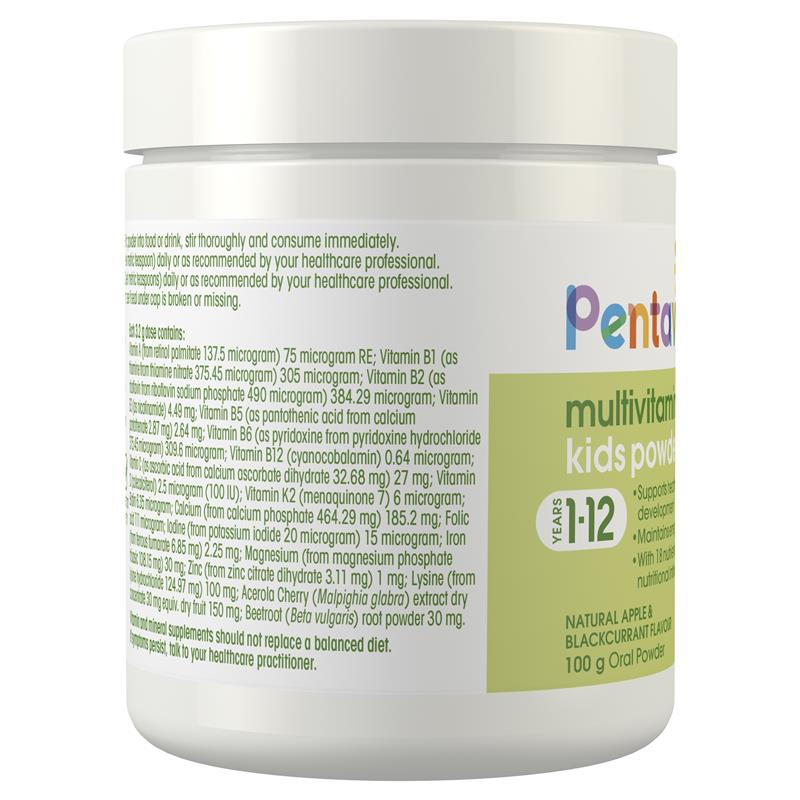 Pentavite Multivitamin + Iron Kids Powder 100g