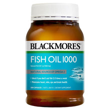 Load image into Gallery viewer, Blackmores Fish Oil 1000mg 200 Capsules