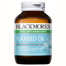 Load image into Gallery viewer, Blackmores Flaxseed Oil 1000mg 100 Vegetarian Capsules