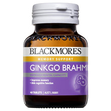 Load image into Gallery viewer, Blackmores Ginkgo Brahmi 40 Tablets