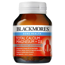 Load image into Gallery viewer, Blackmores Total Calcium + Magnesium 60 Tablets
