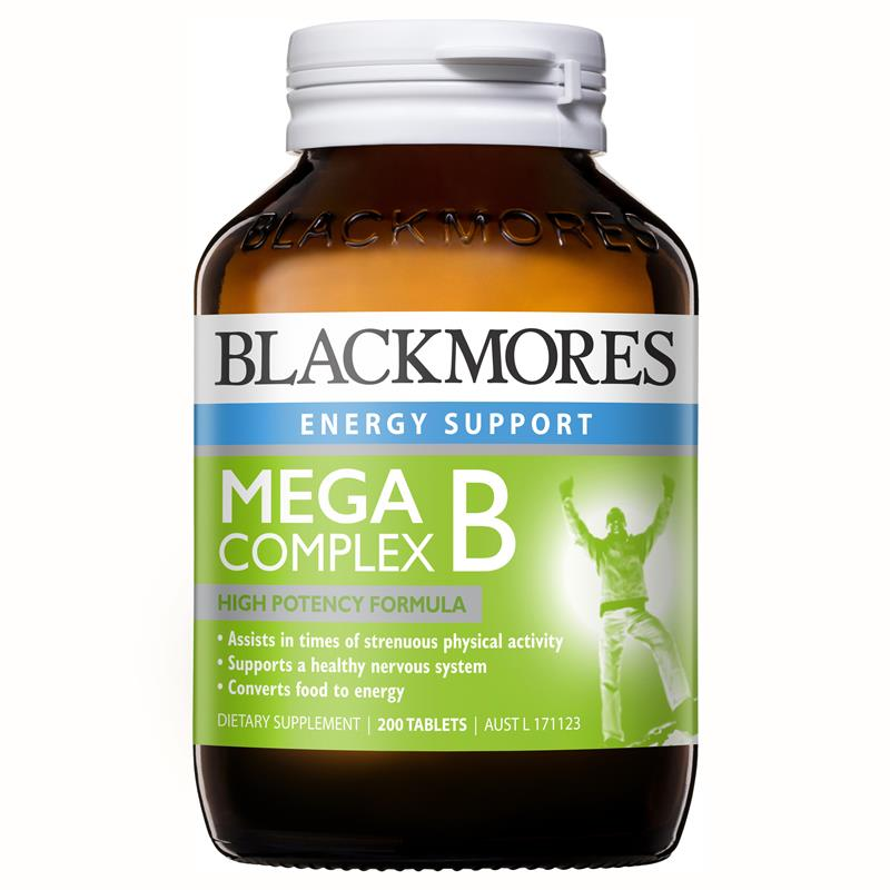 Blackmores Mega B Complex 200 Tablets