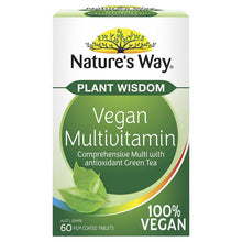 Load image into Gallery viewer, Nature's Way Plant Wisdom Vegan Multivitamin 60 Tablets