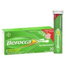 Load image into Gallery viewer, Berocca Energy Vitamin Original Berry Effervescent Tablets 30 pack