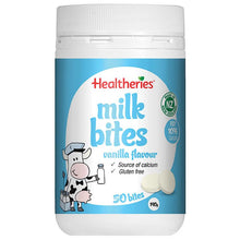 Load image into Gallery viewer, Healtheries Milk Bites Vanilla 50 Bites 190g