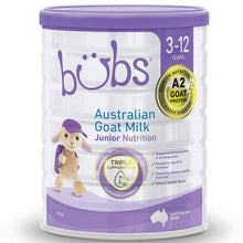 Load image into Gallery viewer, Bubs Australian Goat Milk Junior Nutrition Drink 3-12 Years 800g