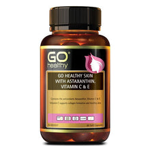 Load image into Gallery viewer, GO Healthy Skin Astaxanthin Vitamin C & E 60 Soft Capsules