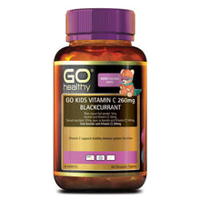 Load image into Gallery viewer, GO Healthy Kids Vitamin C 260mg Blackcurrant 60 Chewable Tablets