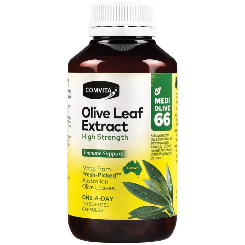 COMVITA Fresh-Picked Olive Leaf Extract High Strength 120 Capsules