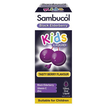Load image into Gallery viewer, Sambucol Black Elderbrerry Kids Liquid 120ml