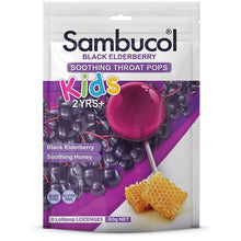 Load image into Gallery viewer, Sambucol Kids Soothing Throat Pops 8 Pack
