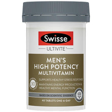 Load image into Gallery viewer, SWISSE Men's Ultivite Power Multivitamin 40 Tablets
