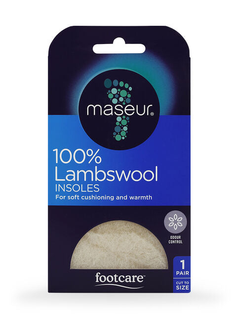 Maseur Footcare Lambswool Insoles (small box)