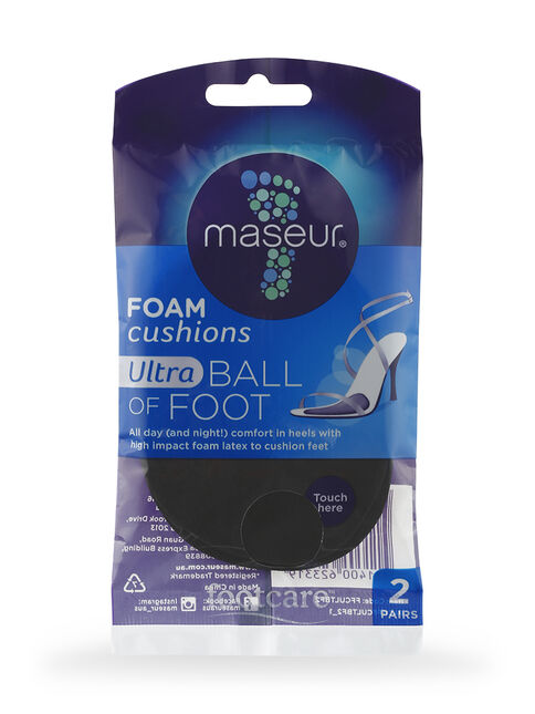 Maseur Footcare Foam Cushions Ultra Ball of Foot 2 pairs