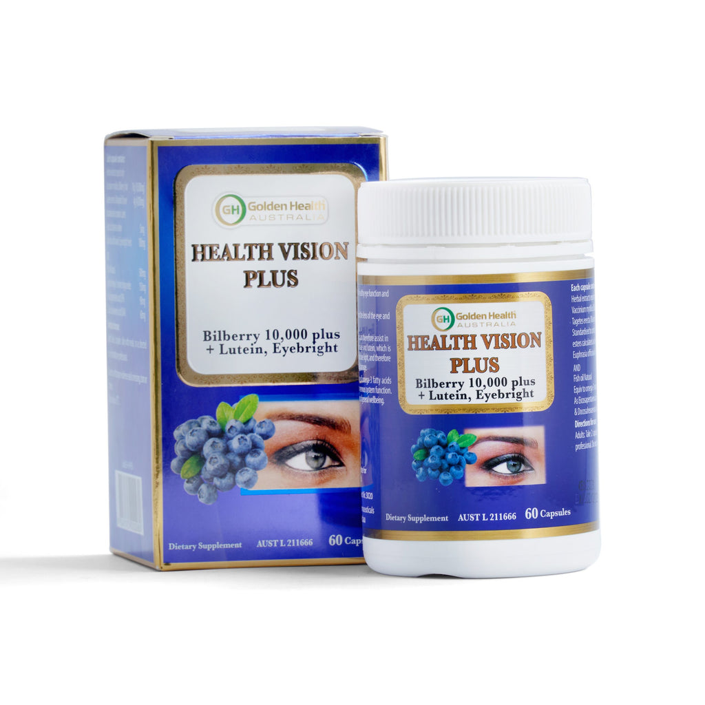 GoldenHealth Health Vision Plus 60 Capsules