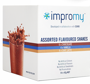 Impromy Shake Assorted Flavours Pack 14x42g