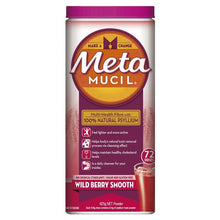 Load image into Gallery viewer, Metamucil Fibre Supplement Smooth Wild Berry 72 Doses