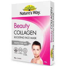 Load image into Gallery viewer, Nature's Way Beauty Collagen Boosting Face Mask 5 x 25g