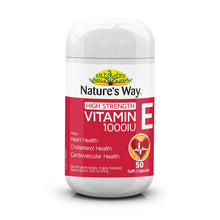 Load image into Gallery viewer, Nature's Way High Strength Vitamin E 1000IU 50 Capsules