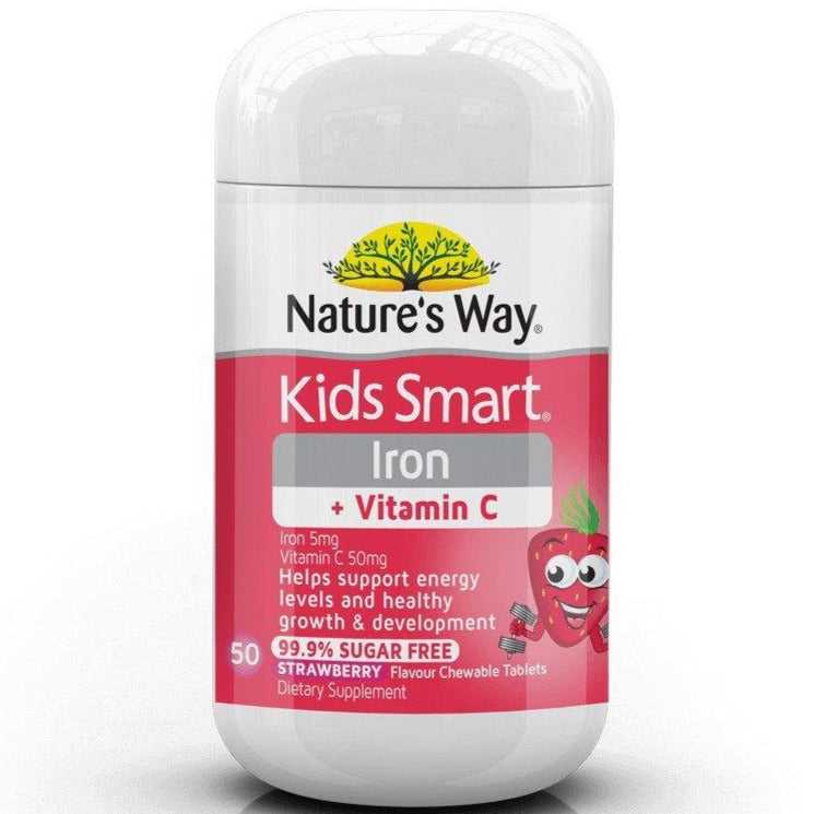 Nature's Way Kids Smart Iron + Vitamin C Chewable 50 Tablets