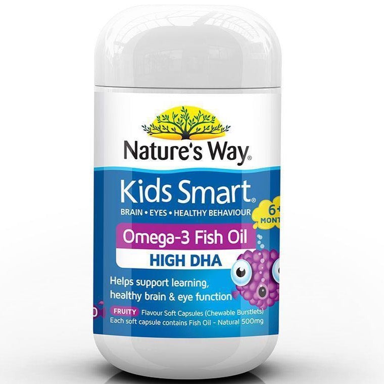 Nature's Way Kids Smart Omega 3 Fish Oil Fruity Flavour 50 Capsules
